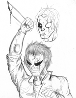 Micheal Myers Biro Sketch by TheIcedWolf