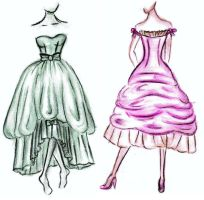 Balenciaga gowns by dudette123
