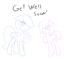 Get well soon rainbow! by Cosmic-Nova
