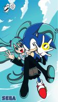 MIKU and SONIC by xionsan