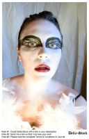 Black Swan FacePaint.7 by Della-Stock