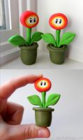 Mario Fire Flower Sculpture by Olechka01