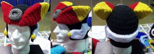 crochet Mega Man ZX Advent hat by BunnieBard