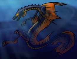Sea Monster by Wolframclaws
