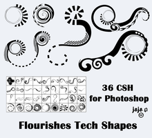 Flourishes Tech Shapes by jojo-ojoj