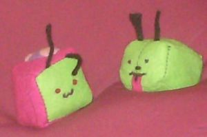 Gir and Zim Kubbies by Pokemon-Chick-1