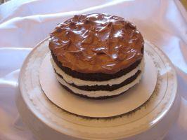Chocolate Cake Pie by Deathbypuddle