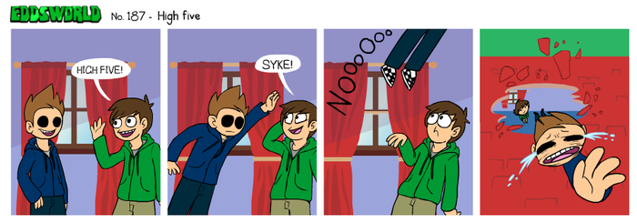 EWCOMIC No. 187 - High Five by eddsworld