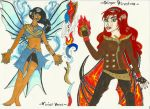 Introducing: Vivian Veeva and Ginger Firestone by A-KTheLittleFairy
