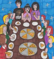 Pizza Party by TheOnyxSwami