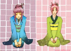 Types of Beauty: Hinata+Sakura by Princess-Panda-chan