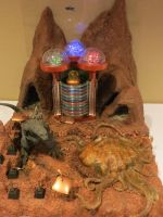 Larry Tribula's Sci Fi Space Diorama with Godzilla by Legrandzilla