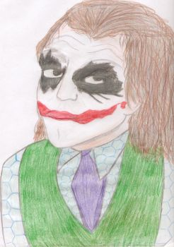 Joker, colored pencil by UndeadCuriosity