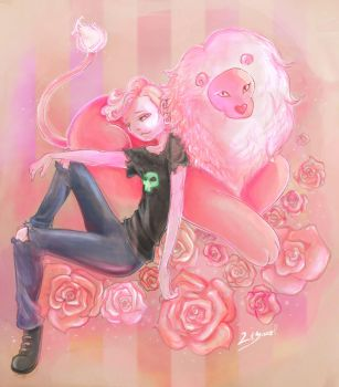 pink Lars and Lion by MachanicSky