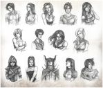 BW sketches by CristianaLeone