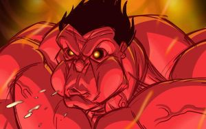 Red Hulk warm up by MBorkowski