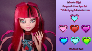 Monster High Fangtastic Love Eyes Set 7 Color by ng9