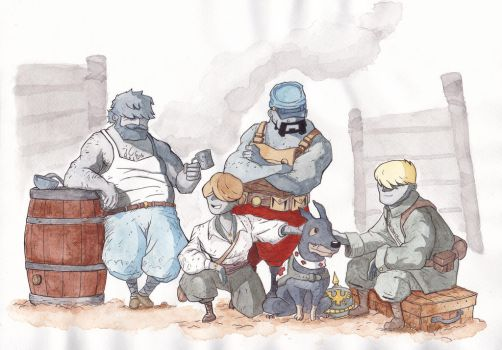 Valiant Hearts watercolor by Vadu20