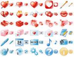 Delicious Love Icons by Ikont