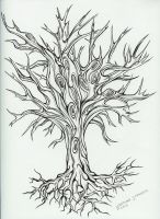 Tree Tattoo Design by TimBurtonFan11