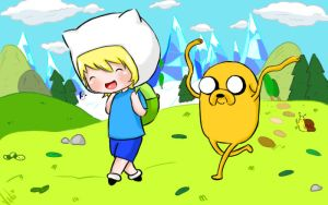 Finn and Jake by naruvane-san