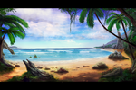 Tropical Beach by JKRoots