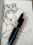 SAILOR MOON DOODLE by Wandering-Lady