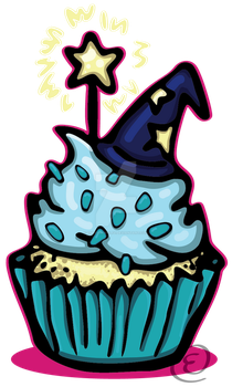 Wizard Cupcake by EmersonWolfe