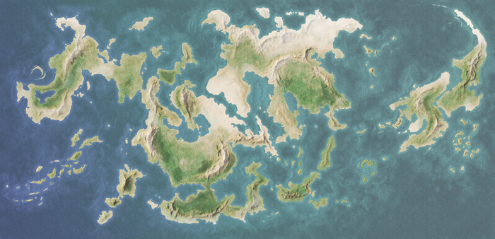 Fantasy World Map 01 by Paramenides-MapStock