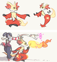 More like Delphox became a Skullgirl by swanhili