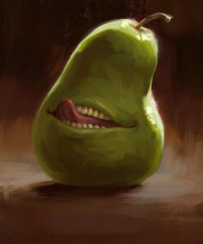Biting Pear of Salamanca by depingo