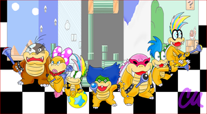 Here Come the Koopalings by brushtrail