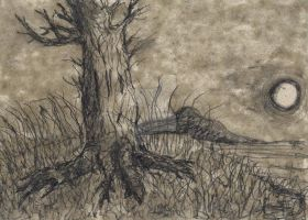 The Lonely Tree -Sketch by SpoonSeeker