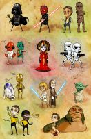 Star Wars Minis by XeiArt