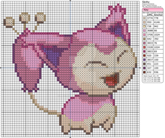Pokemon - Skitty by Makibird-Stitching