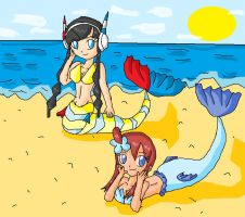 poke mermaids by ninpeachlover