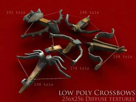 Low Poly Crossbows by BlooCoops