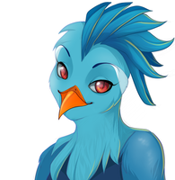 Commission: Starbound Avian by andarix