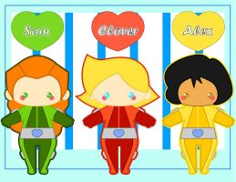 Chibi Totally Spies by MidniteHearts