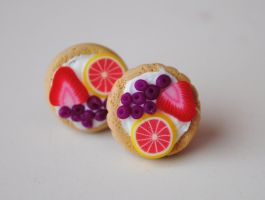 Fruit Tart Studs by ClayConnections