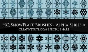 Snowflakes Photoshop Brushes-A by Grasycho