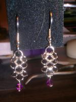 Chainmaille earrings v. 0.5 by Amthyst