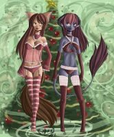 EVO Xmas girls by raptor007
