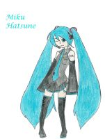 Miku Hatsune Colored by Dreams-of-Impact