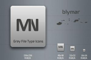 Grey File Type Icons PSD by blymar