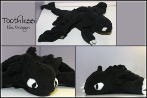 Toothless Plushie by KrowKills