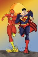 Superman Flash p1 Do-over by ThePrincessNightmare