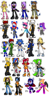 FOUR left -donated- by Sonic-Orphanage