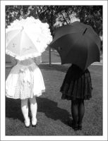 Umbrella Lolitas by astrokitten