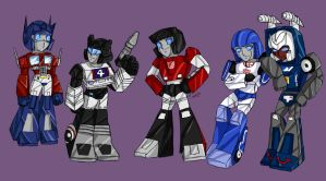 Chibi TFs Red White and Blue by Ty-Chou